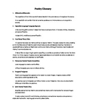 Poetry glossary for 5th grade (English/Spanish)