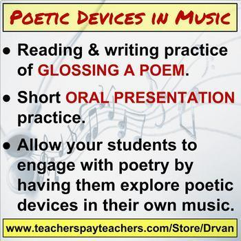 Poetry in Music: Searching for Poetic Devices & Mini-Presentation