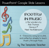 Poetry in Music Slideshow Lesson with Little Wonders