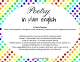Poetry in Plain English (Intro to Poetic Devices)