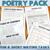 Poetry in Speech Therapy: Short & Fun Writing Tasks - Poem