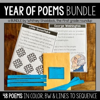 Poem of the Week for Shared Reading (Year Long Plans for K-2)