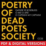 Poetry of Dead Poets Society, Analyze 3 Poems, Add Rigor to Film Study, Whitman