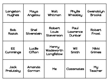 Poetry of Poets Activities for Teaching Poetry