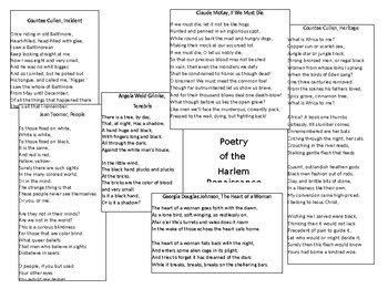 Poetry of the Harlem Renaissance