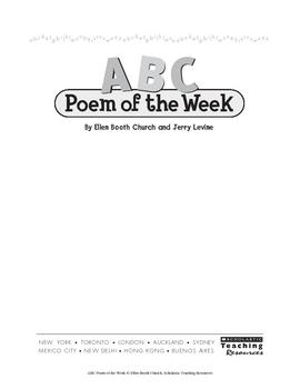 Poetry of the Week/s!