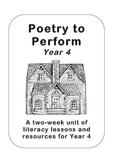 Poetry to Perform, Year 4 (3rd Grade) - Walter de la Mare