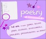 Poetry unit-sound, figurative language, structure-writing, vocab, analysis
