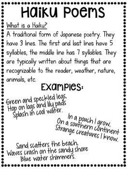 Poetry Unit: Six Types Of Poems Bundle