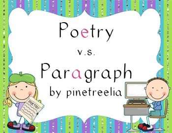 Poetry vs. Paragraph (Understanding the Difference!}