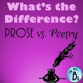 Poetry vs. Prose Student Worksheet