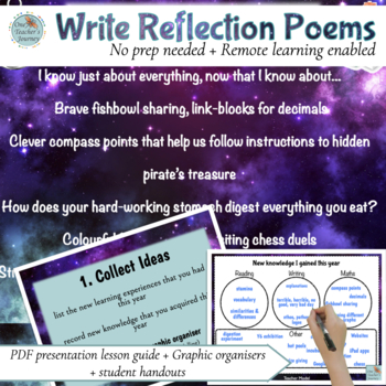 Poetry - write Reflective poems in 3 easy steps