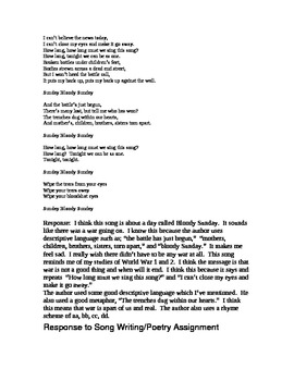 Poetry/Song Response