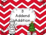 First Grade Math: 3-Addend Addition