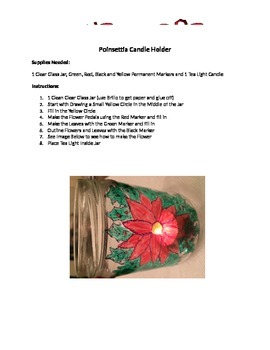 Poinsettia Candle Holder