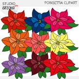 Poinsettia Clipart - Christmas clipart by Studio ELSKA