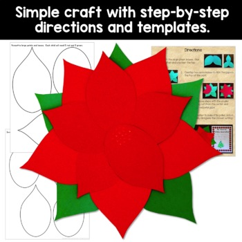 Poinsettia Craft and Writing Activity