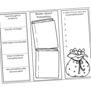 Poinsettia Flower - The History of Christmas Project Interactive Notebook