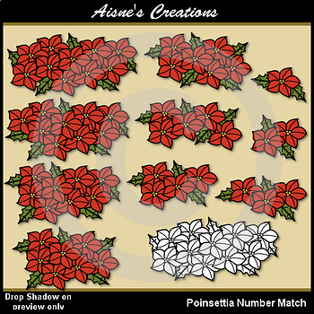 Poinsettia Number Match