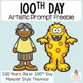 100th Day Artistic Prompt Freebie by Pencils to Pigtails