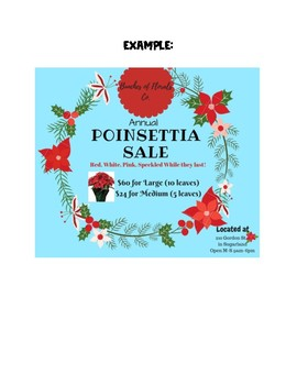 Poinsettia Shop Post Project, Christmas time assignment