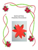 Poinsettia Window and Wall Decoration