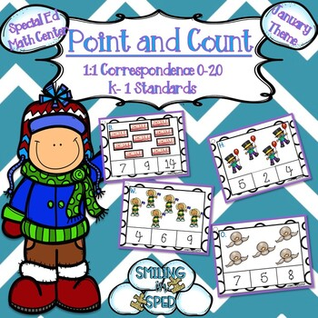 Point and Count Clip Cards (January Theme)