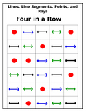 Point, Line, Line Segment, and Ray Four In A Row