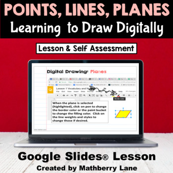 Point Line Plane - Learning to Draw Digitally in Google Slides