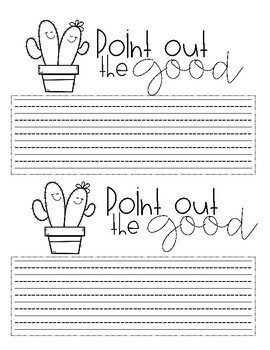 Point Out The Good {Freebie}