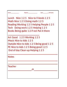 Point Sheet