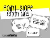 Point-Slope Activity Cards & Worksheet