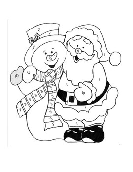 Point-Slope Christmas Coloring Page