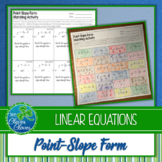 Point-Slope Form Activities