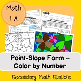 Point-Slope Form - Color by Number