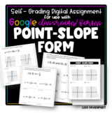 Point- Slope Form- Digital Assignment for use with Google Forms