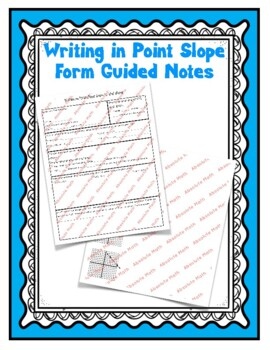 Point Slope Form Guided Notes