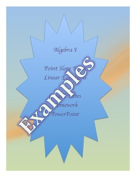 Point Slope Form Guided Notes,  Homework PowerPoint Keys