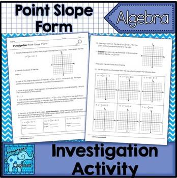 point slope form investigation  Point Slope Form Investigation Activity and Notes