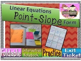 Point-Slope Form Linear Equations Foldable, INB, Practice, & Exit Ticket