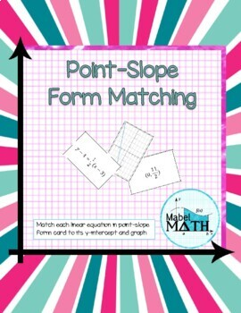 Point-Slope Form Matching