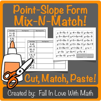 Point-Slope Form Mix-N-Match!
