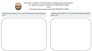 Point Slope Form - PowerPoint Lesson and Printables!