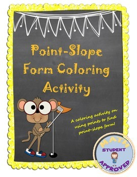 Point-Slope Form Practice Sheet Coloring Activity