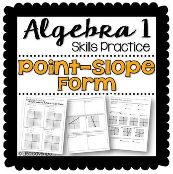 Printables Point Slope Form Worksheet point slope form practice worksheet by lisa davenport worksheet