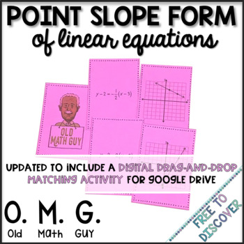 Point Slope Form of Linear Equations Card Game