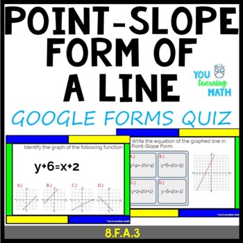 Point-Slope Form of a Line: Google Quiz - 26 Problems