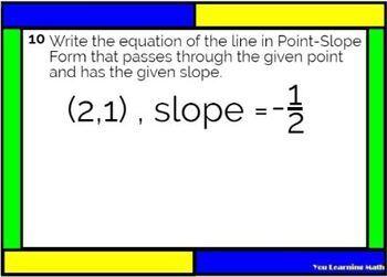 Point-Slope Form of a Line: Google Slides