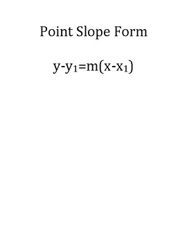 Point Slope Form stackable notes