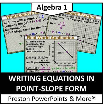 (Alg 1) Writing Equations in Point-Slope Form in a PowerPo